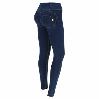 Freddy WR.UP Skinny High Rise in Stretch Dark Denim - Dark Jeans-Yellow Seam - Medium