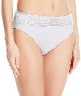 Warner's Warners Women's No Pinching No Problem Hi Cut Brief Panty with Lace