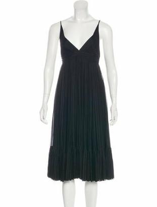 Balenciaga Silk Midi Dress Black