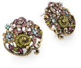 Heidi Daus Bouquet Swarovski Crystal Button Earrings