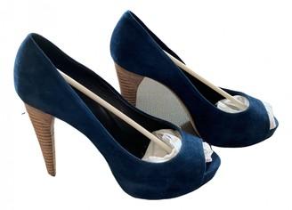 Pierre Hardy Blue Suede Heels