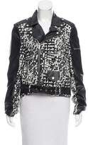 Whitney Eve Contrast Moto Jacket