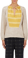 Ace&Jig Women's Riley Striped Cotton Long-Sleeve Top-IVORY, BROWN, YELLOW, WHITE, NO COLOR
