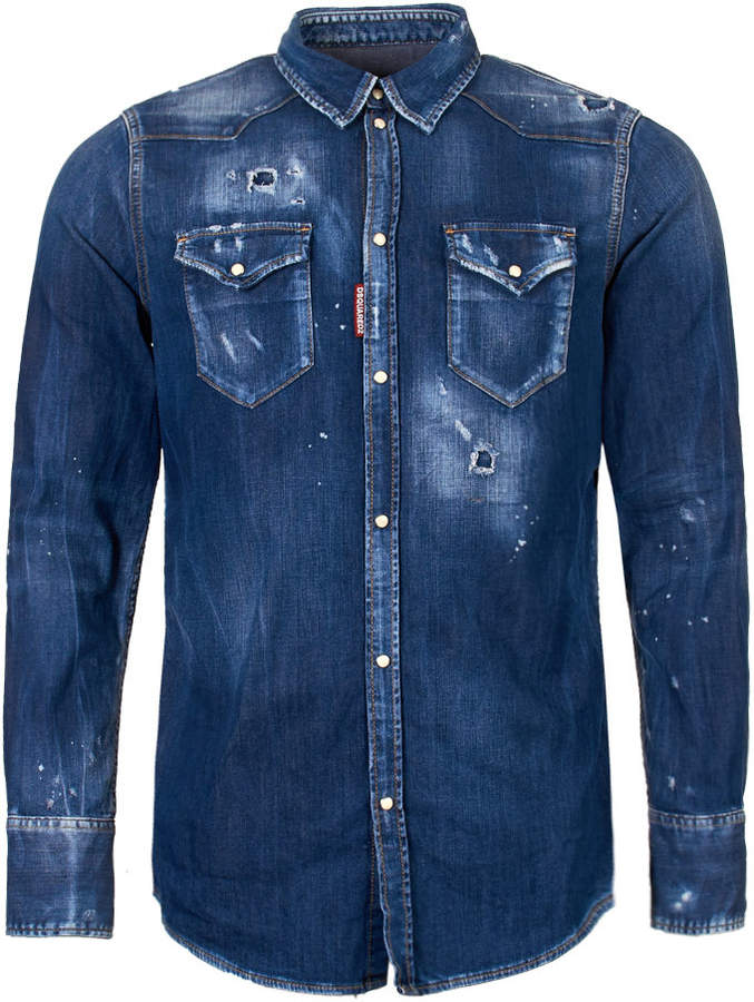 DSQUARED2 Denim Shirt - Blue Wash