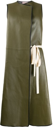 Plan C Sleeveless Side Tie Coat
