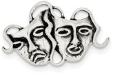 JE Sterling Silver Antiqued Comedy/tragedy Pin