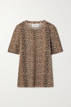 Saint Laurent Leopard-print Cotton-jersey T-shirt - Leopard print
