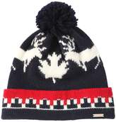 DSQUARED2 Deer Wool & Alpaca Knit Hat W/ Pompom