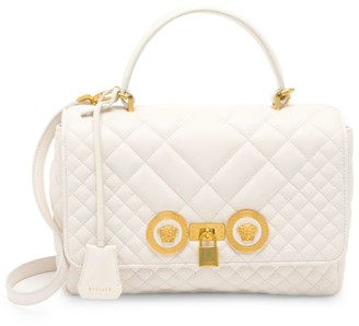 Versace Icon Quilted Leather Top Handle Bag
