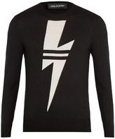 Neil Barrett Lightning-bolt Intarsia Wool Sweater