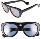 Moncler Women's 51Mm Shield Sunglasses - Black/ Gold/ Violet Mirror