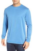 Bugatchi Men's Long Sleeve Crewneck T-Shirt