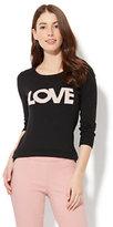 "New York & Co. Crewneck Sweater - ""Love"" Intarsia Knit"