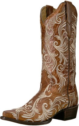 Stetson Women's Willow Western Boot Brown 8 Medium US