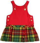 Junior Gaultier Milano Jersey & Flannel Overall Dress