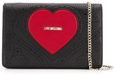 Love Moschino logo heart embossed bag
