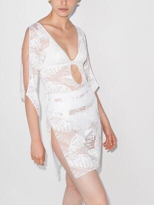 Eileen floral-pattern beach dress
