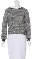 L'Agence Bouclé Knit Crew Neck Sweater
