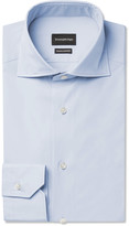 Ermenegildo Zegna - Blue Slim-fit Cotton Shirt