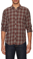 Gilded Age Cotton Checkered Woven Sportshirt
