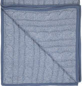 Award Winning Lilly + Sid Cable Knit Denim Marl Blanket Ideal Baby Gift