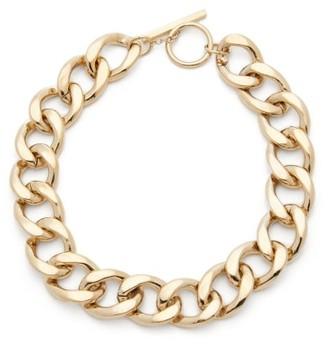 Saint Laurent Curb-link Metal Necklace - Gold