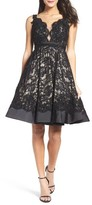 Mac Duggal Women's Lace Fit & Flare Dress