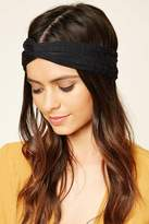 Forever 21 Metallic Yarn Twisted Headwrap