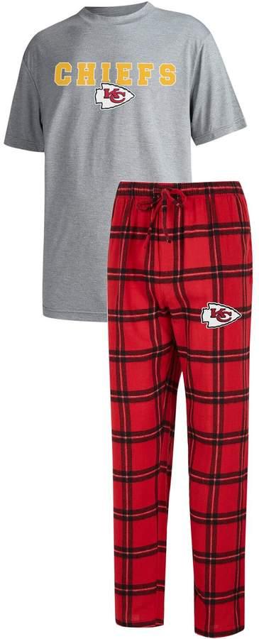 best cheap 64695 b9520 Unbranded Men's Concepts Sport Red/Heathered Gray Kansas City Chiefs Big &  Tall Troupe T-Shirt & Pants Sleep Set