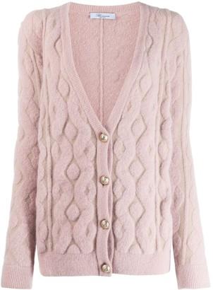 Blumarine textured pattern cardigan