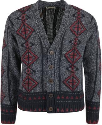 Etro V-neck Knitted Cropped Cardigan