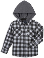 Andy & Evan Boys' Jersey Lined Flannel Check Shirt - Little Kid, Big Kid