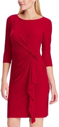 Chaps Women's Gathered Sheath Dress