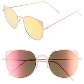 BP Women's 55Mm Mirrored Cat Eye Sunglasses - Pink/ Mirrored