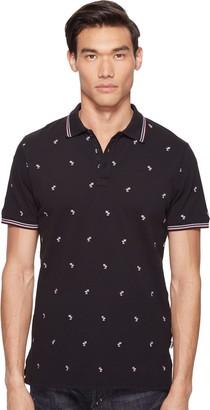 Just Cavalli Men's Pink Palm Tree Polo Shirt