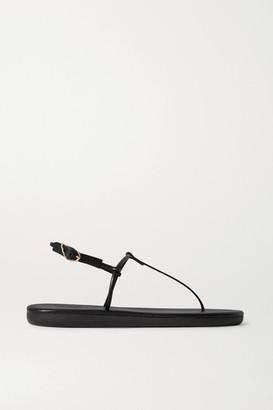 Ancient Greek Sandals Katerina Leather Sandals - Black