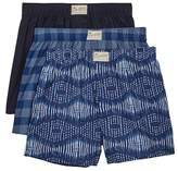 Lucky Brand Woven Boxers - Pack of 3 - Size Medium