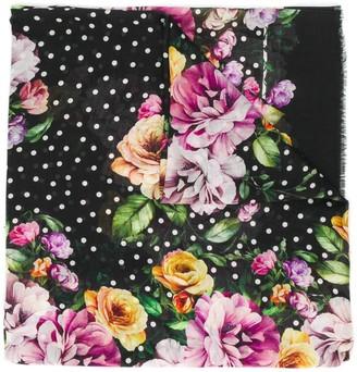Dolce & Gabbana Nocturnal Flower Print Scarf