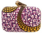 Kotur Printed Canvas Clutch