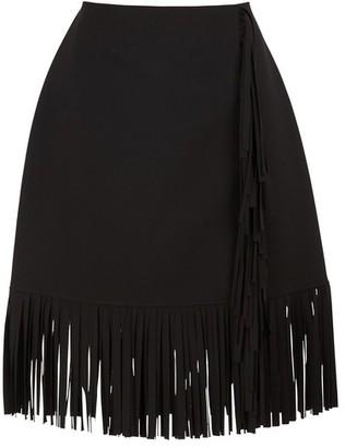MSGM Cady fringed skirts