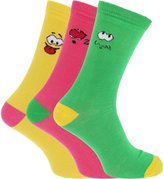 Universal Textiles Mens Smiley Face Expression Socks (Pack Of 3)