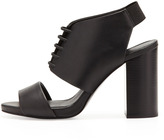 See by Chloe Lace-Up Bootie Sandal with Block Heel