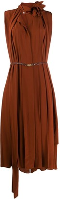 Victoria Beckham scarf neckline sleeveless dress