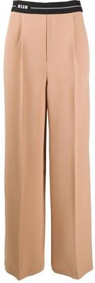 MSGM High-Rise Flared Trousers