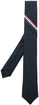 Thom Browne Classic Necktie With Seamed-In Red, White And Blue Selvedge In Super 120's Twill