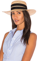 Janessa Leone Six Hat in Tan. - size L (also in M,S)