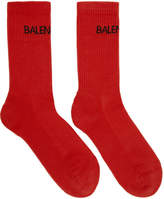 Balenciaga Red Logo Socks