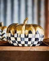 Mackenzie Childs MacKenzie-Childs Medium Golden Frost Pumpkin