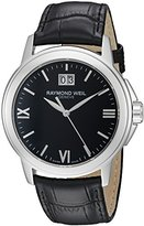Raymond Weil Men's 'Tradition' Swiss Quartz Stainless Steel and Leather Casual Watch, Color:Black (Model: 5576-ST-00207)