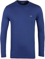 Lacoste Cascade Blue Long Sleeved Crew Neck T-shirt